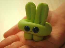 Создаем милого пластилинового зайчонка