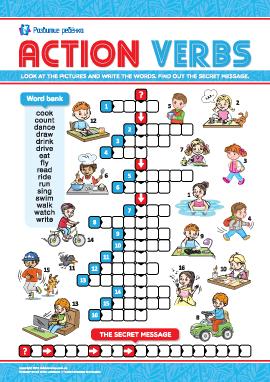 Кроссворд на английском «Изучаем глаголы»