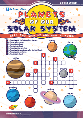 Кроссворд на английском «Планеты Солнечной системы»