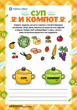 Суп и компот: выбираем продукты