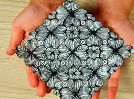 Создаем симметричный узор с цветами