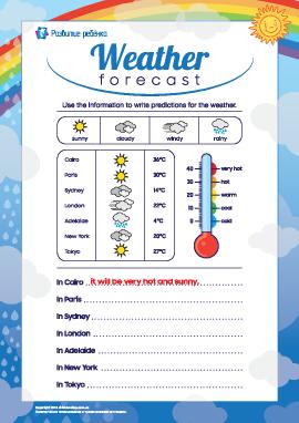 Пишем прогноз погоды (английский язык)