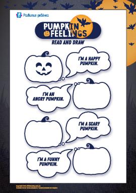 Рисуем лица тыквочкам: «Хеллоуин» (на английском языке)