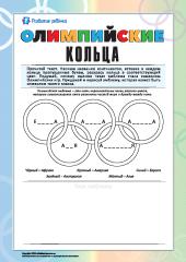 олимпийские кольца картинка для детей цвета и значение