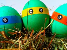 Герои мультиков - декорирование пасхальных яиц