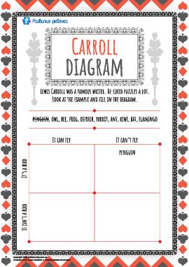 Заполняем диаграмму Кэрролла (английский язык)