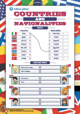 Названия стран и национальностей (английский язык)