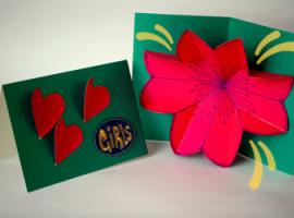 Как сделать pop-up открытку с цветком внутри