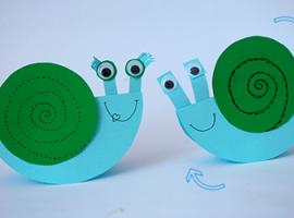 Веселые улитки - простые игрушки для малыша