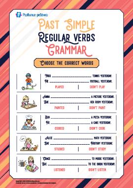 Употребляем правильные глаголы в Past Simple