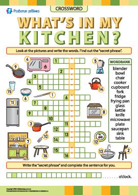 Кроссворд «Кухня и ее обустройство» (английский язык)