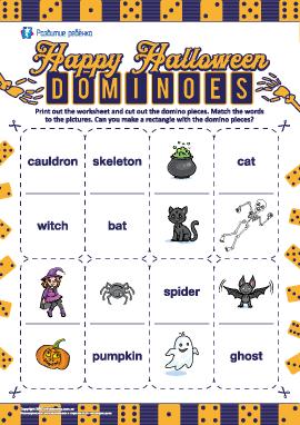 Головоломка-домино «Хеллоуин» (английский язык)