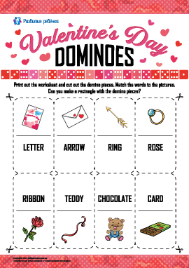 Головоломка-домино «День святого Валентина» (английский язык)